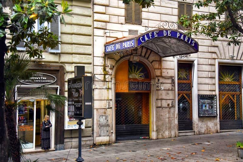 Το διάσημο Καφέ του Παρισιού στη Ρώμη της Ιταλίας στοκ εικόνα