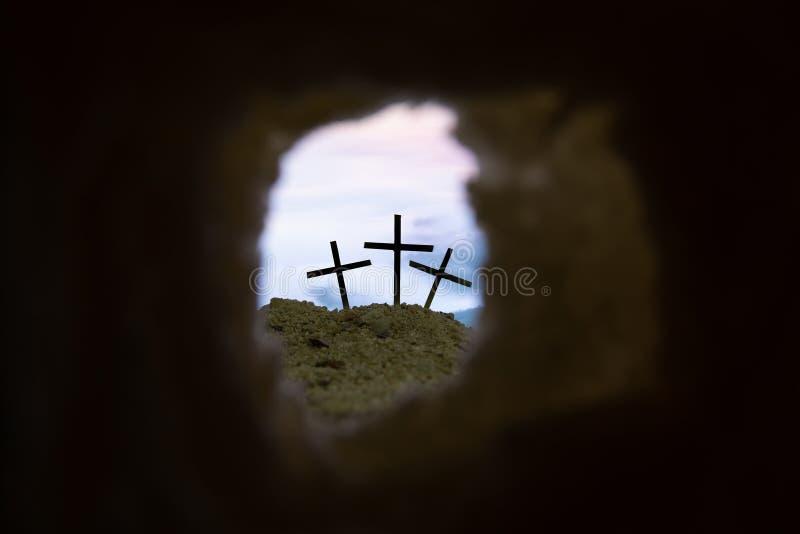 Το διαγώνιο σύμβολο για το Ιησούς Χριστό αυξάνεται στοκ εικόνα