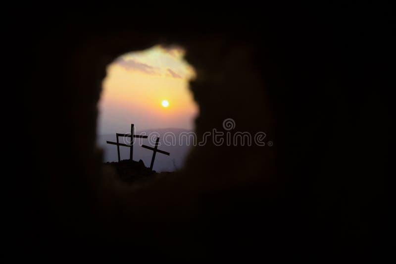 Το διαγώνιο σύμβολο για το Ιησούς Χριστό αυξάνεται στοκ φωτογραφία με δικαίωμα ελεύθερης χρήσης