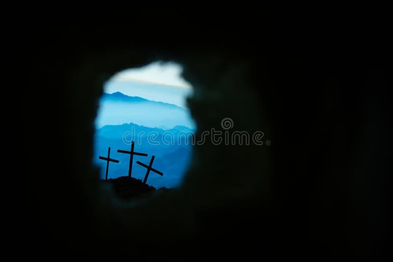 Το διαγώνιο σύμβολο για το Ιησούς Χριστό αυξάνεται στοκ εικόνες με δικαίωμα ελεύθερης χρήσης