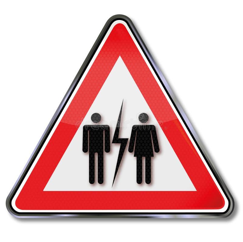 Το διαζύγιο και υποφέρει απεικόνιση αποθεμάτων