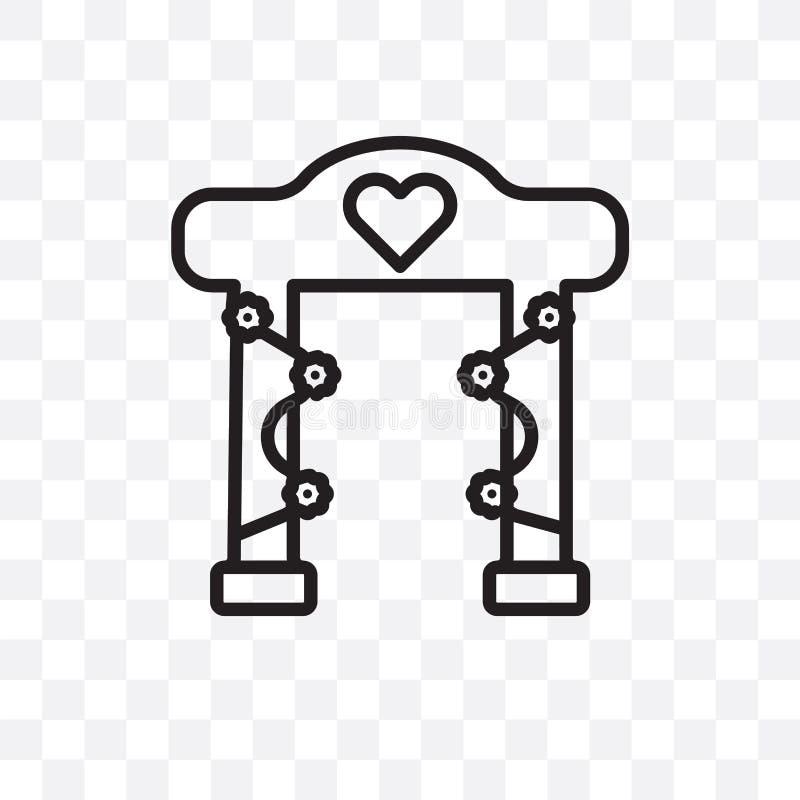 το διανυσματικό γραμμικό εικονίδιο γαμήλιων βωμών που απομονώνεται στο διαφανές υπόβαθρο, έννοια διαφάνειας γαμήλιων βωμών μπορεί ελεύθερη απεικόνιση δικαιώματος