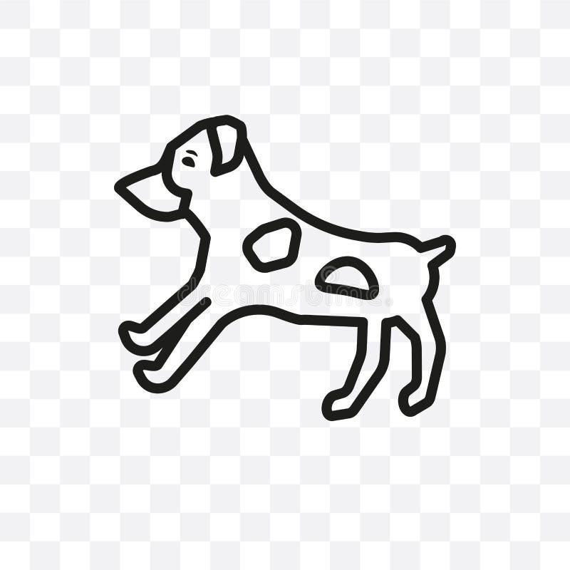 Το διανυσματικό γραμμικό εικονίδιο σκυλιών τεριέ του Bull που απομονώνεται στο διαφανές υπόβαθρο, έννοια διαφάνειας σκυλιών τεριέ απεικόνιση αποθεμάτων