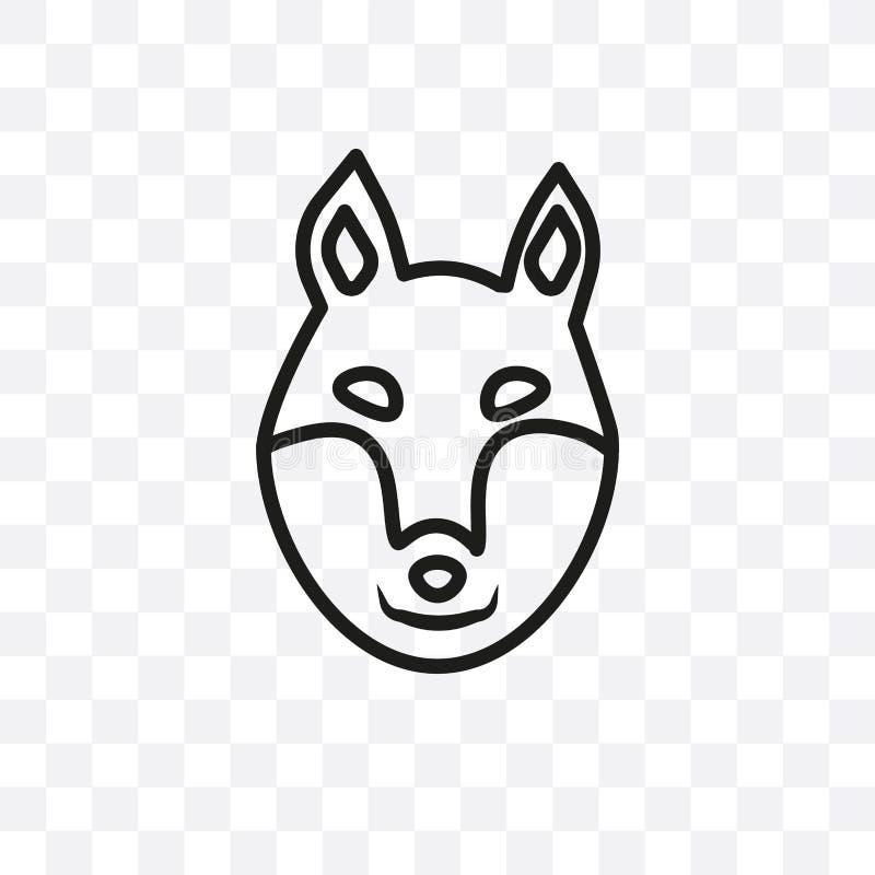 Το διανυσματικό γραμμικό εικονίδιο σκυλιών του ST Bernard που απομονώνεται στο διαφανές υπόβαθρο, έννοια διαφάνειας σκυλιών του S διανυσματική απεικόνιση