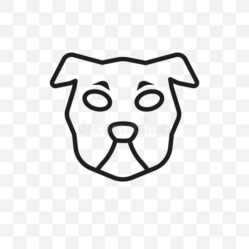 Το διανυσματικό γραμμικό εικονίδιο σκυλιών τσοπανόσκυλων Shetland που απομονώνεται στο διαφανές υπόβαθρο, έννοια διαφάνειας σκυλι ελεύθερη απεικόνιση δικαιώματος
