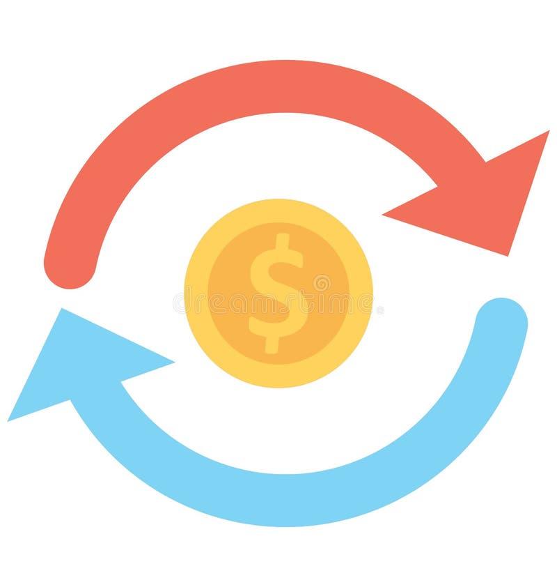 Το διανυσματικό εικονίδιο νομίσματος απομόνωσε το διανυσματικό εικονίδιο που μπορεί εύκολα να τροποποιήσει ή να εκδώσει το διανυσ ελεύθερη απεικόνιση δικαιώματος