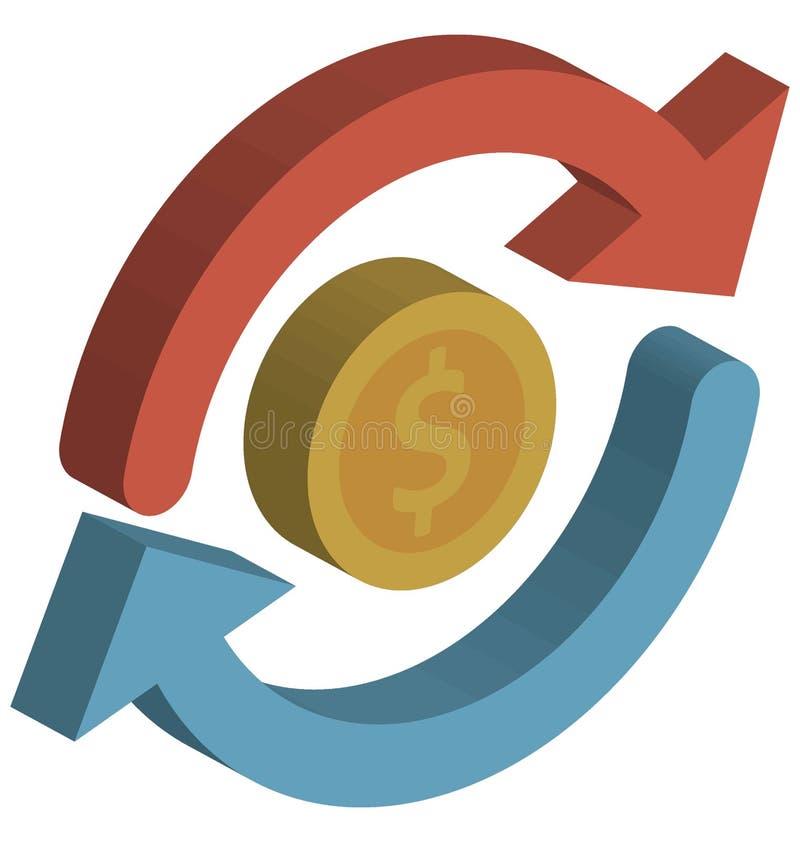 Το διανυσματικό εικονίδιο νομίσματος απομόνωσε το διανυσματικό εικονίδιο που μπορεί εύκολα να τροποποιήσει ή να εκδώσει απεικόνιση αποθεμάτων