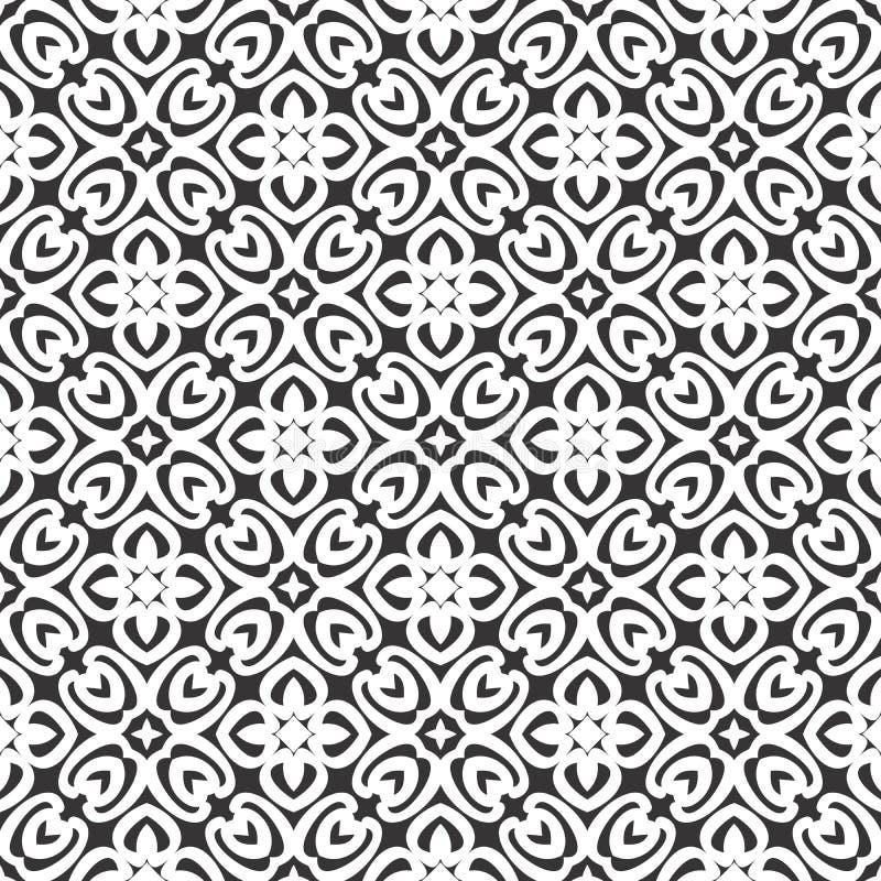 Το διανυσματικό μαύρο λευκό επαναλαμβάνει τα σχέδια διανυσματική απεικόνιση