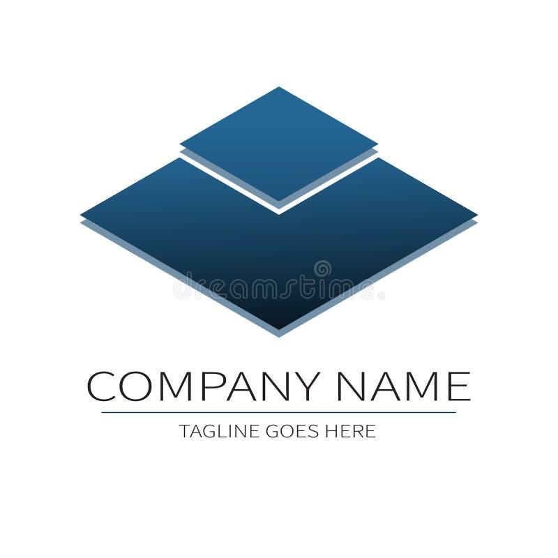 Το διανυσματικό πρότυπο σχεδίου για το λογότυπο επιχείρησής σας, αφαιρεί το μπλε εικονίδιο E απεικόνιση αποθεμάτων