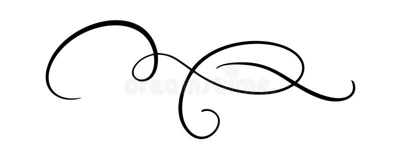 Το διανυσματικό στοιχείο καλλιγραφίας ακμάζει Συρμένος χέρι διαιρέτης για τη διακόσμηση στροβίλου διακοσμήσεων σελίδων και απεικό ελεύθερη απεικόνιση δικαιώματος