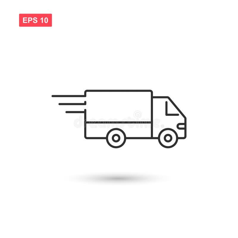 Το διανυσματικό σχέδιο εικονιδίων φορτηγών παράδοσης απομόνωσε 2 απεικόνιση αποθεμάτων