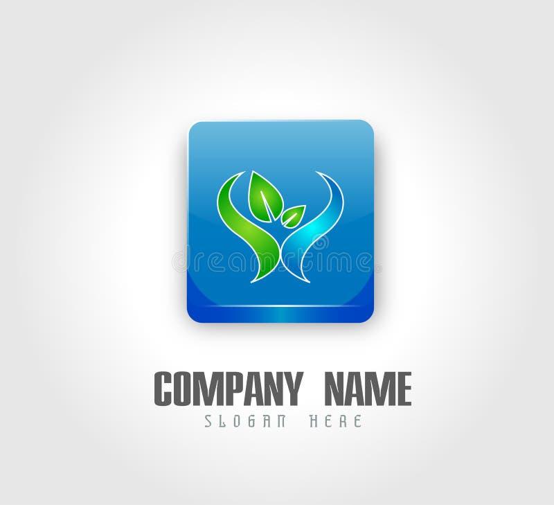 Το διανυσματικό τετραγωνικό μπλε σχεδίου λογότυπων λάμπει περίληψη για την επιχείρηση λογότυπων χρήσης ελεύθερη απεικόνιση δικαιώματος