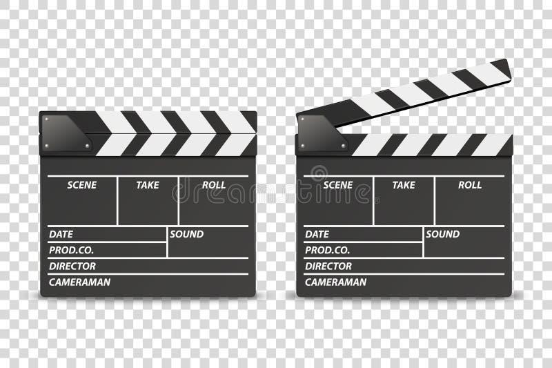 Το διανυσματικό τρισδιάστατο ρεαλιστικό κενό έκλεισε και άνοιξε την καθορισμένη κινηματογράφηση σε πρώτο πλάνο εικονιδίων πινάκων ελεύθερη απεικόνιση δικαιώματος