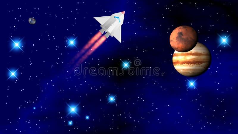 Το διαστημικό λεωφορείο στοκ εικόνες