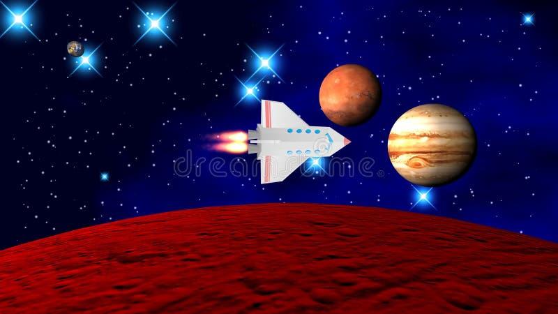 Το διαστημικό λεωφορείο στοκ εικόνα