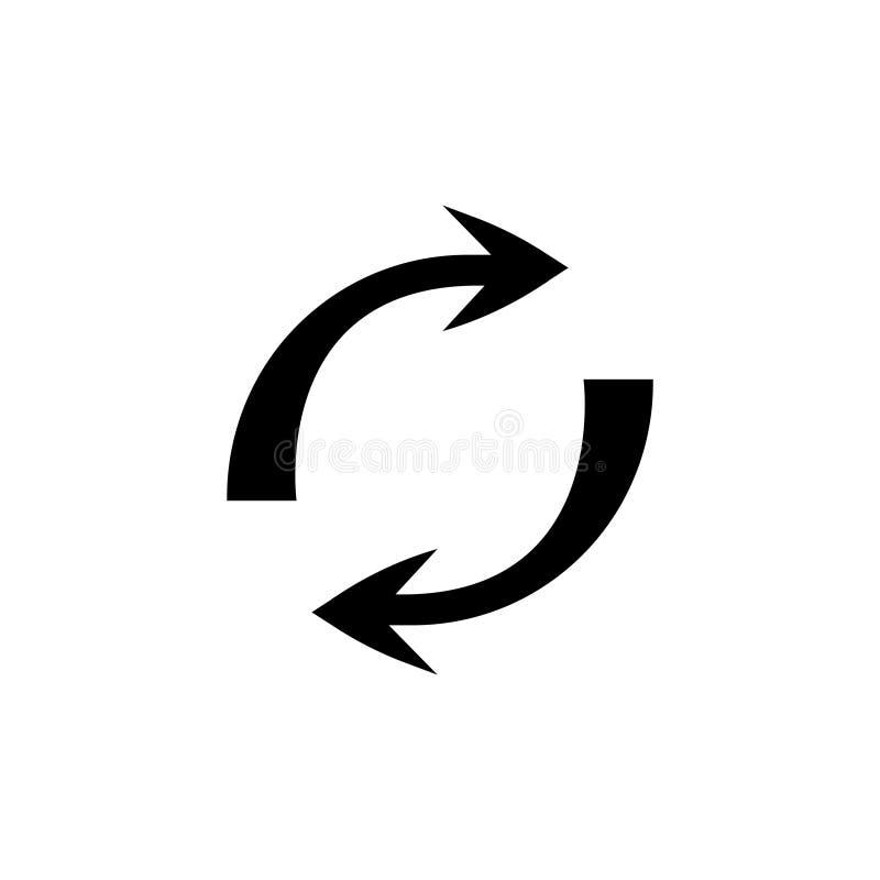 Το διπλό αντίστροφο βέλος, αντικαθιστά το εικονίδιο, σημάδι ανταλλαγής διανυσματική απεικόνιση
