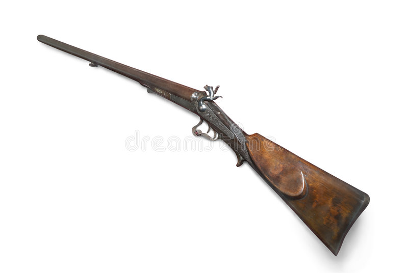 το διπλό κυνήγι πυροβόλων στοκ εικόνα με δικαίωμα ελεύθερης χρήσης