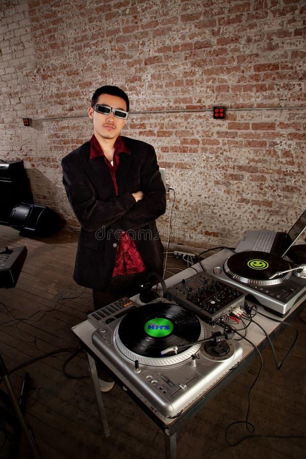 Το δροσερό DJ θέτει στοκ εικόνα με δικαίωμα ελεύθερης χρήσης
