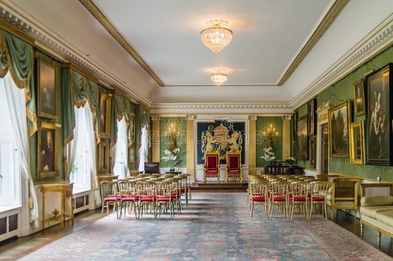 Το δωμάτιο θρόνων, Hillsborough Castle, Βόρεια Ιρλανδία στοκ εικόνα