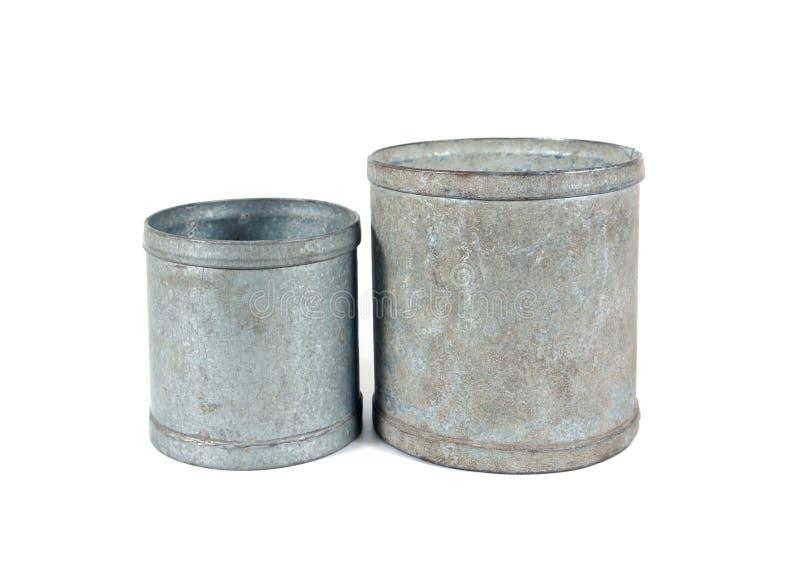 Το είδος δύο μπορεί χρησιμοποιείται για να μετρήσει το ποσό ρυζιού που στοκ εικόνες