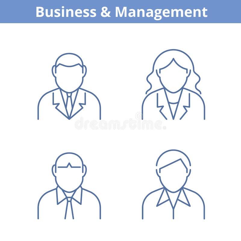 Το είδωλο επαγγελμάτων έθεσε: επιχειρηματίας, επιχειρηματίας, σύμβουλος, ελεύθερη απεικόνιση δικαιώματος