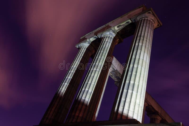 Το εθνικό μνημείο στο Hill του Carlton στο Εδιμβούργο, Σκωτία στοκ εικόνα με δικαίωμα ελεύθερης χρήσης