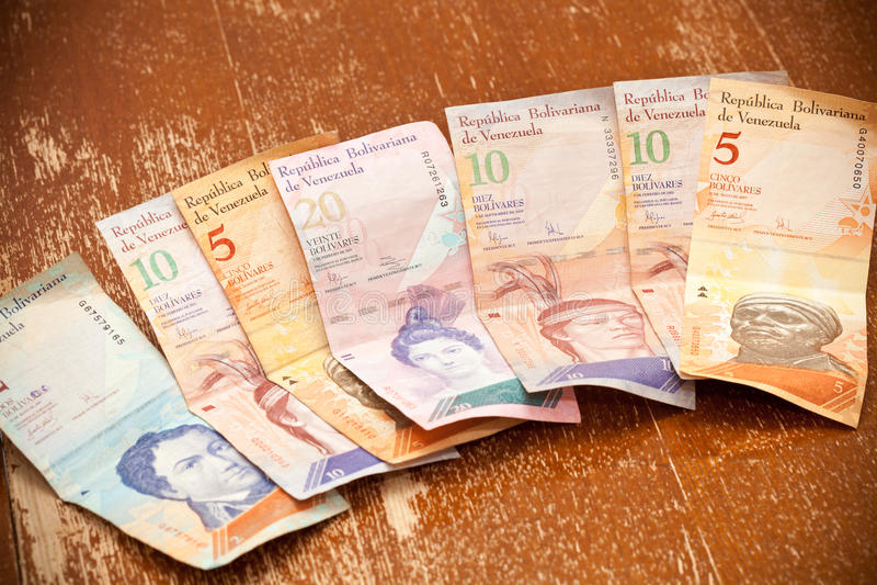 Το εθνικό νόμισμα της Βενεζουέλας στοκ εικόνες με δικαίωμα ελεύθερης χρήσης