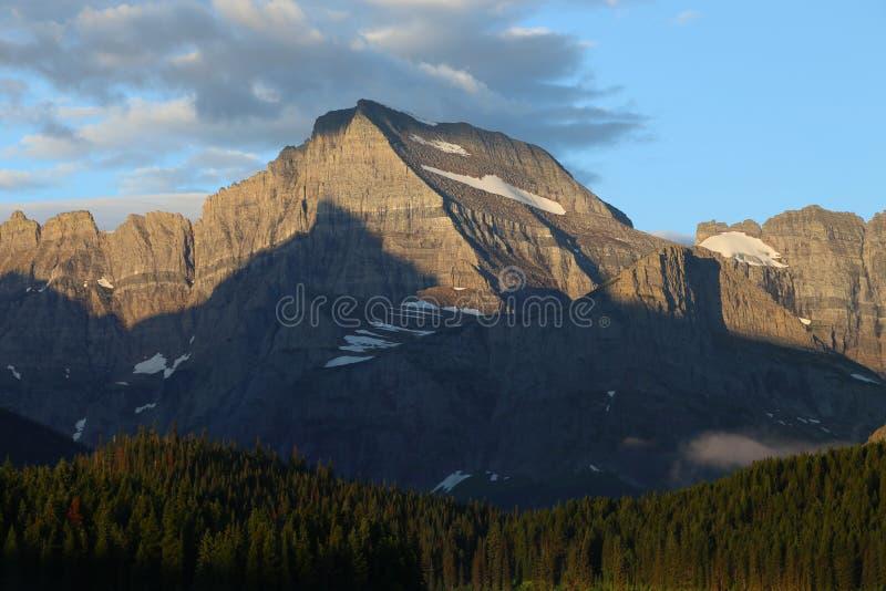 Το εθνικό πάρκο παγετώνων τοποθετεί το πρωί Gould στοκ εικόνα