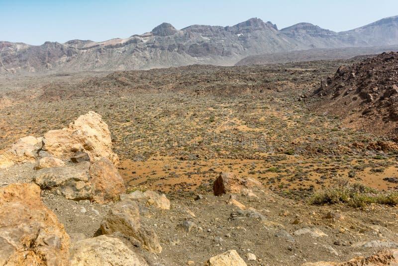 Το εθνικό πάρκο Teide καταλαμβάνει την υψηλότερη περιοχή του νησιού Tenerife στα Κανάρια νησιά και την Ισπανία στοκ φωτογραφία με δικαίωμα ελεύθερης χρήσης