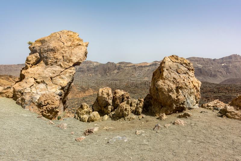 Το εθνικό πάρκο Teide καταλαμβάνει την υψηλότερη περιοχή του νησιού Tenerife στα Κανάρια νησιά και την Ισπανία στοκ φωτογραφίες με δικαίωμα ελεύθερης χρήσης