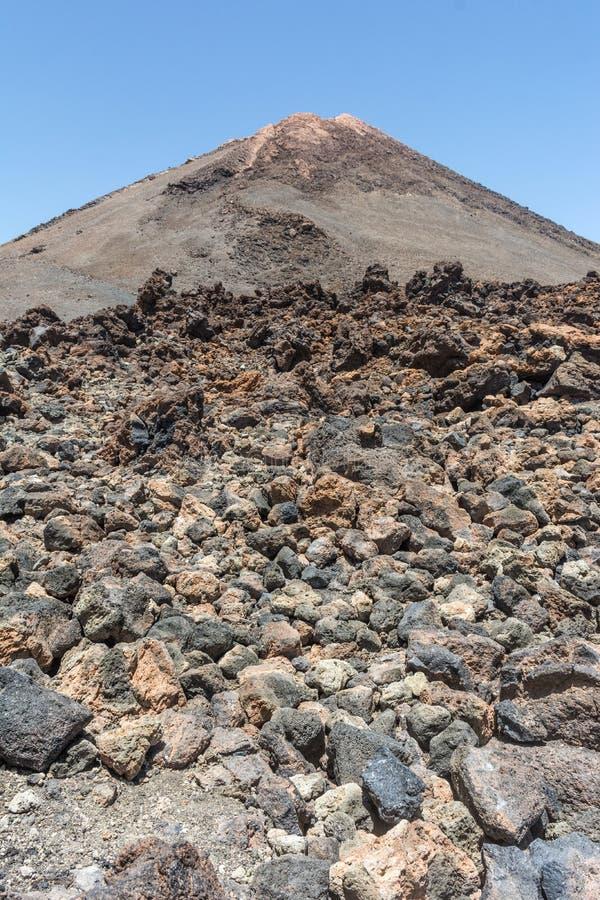Το εθνικό πάρκο Teide καταλαμβάνει την υψηλότερη περιοχή του νησιού Tenerife στα Κανάρια νησιά και την Ισπανία στοκ εικόνα με δικαίωμα ελεύθερης χρήσης