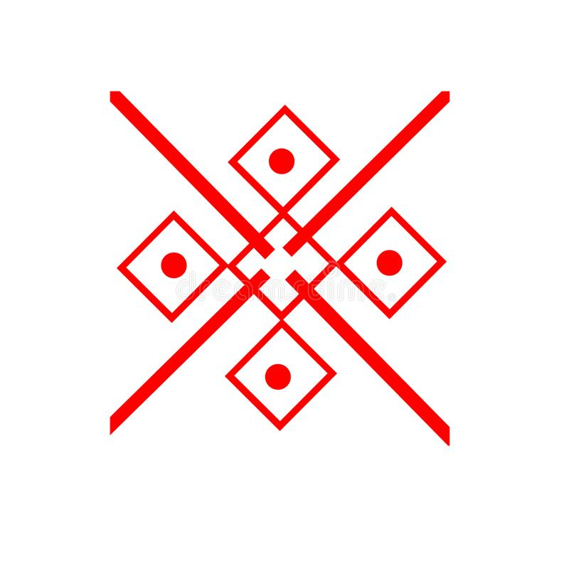 Το εθνικό στοιχείο του σλαβικού σχεδίου σε ένα άσπρο backgrou στοκ εικόνες
