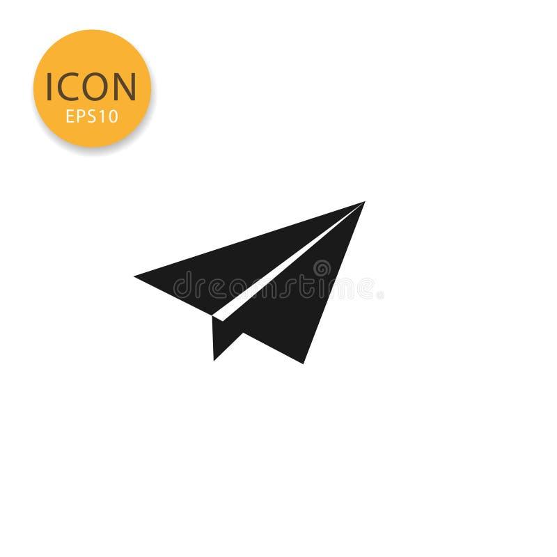 Το εικονίδιο αεροπλάνων Origami απομόνωσε το επίπεδο ύφος ελεύθερη απεικόνιση δικαιώματος
