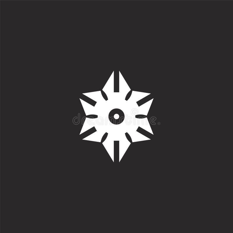 το εικονίδιο Γεμισμένος το εικονίδιο για το σχέδιο ιστοχώρου και κινητός, app ανάπτυξη το εικονίδιο από τις γεμισμένες πολεμικές  διανυσματική απεικόνιση