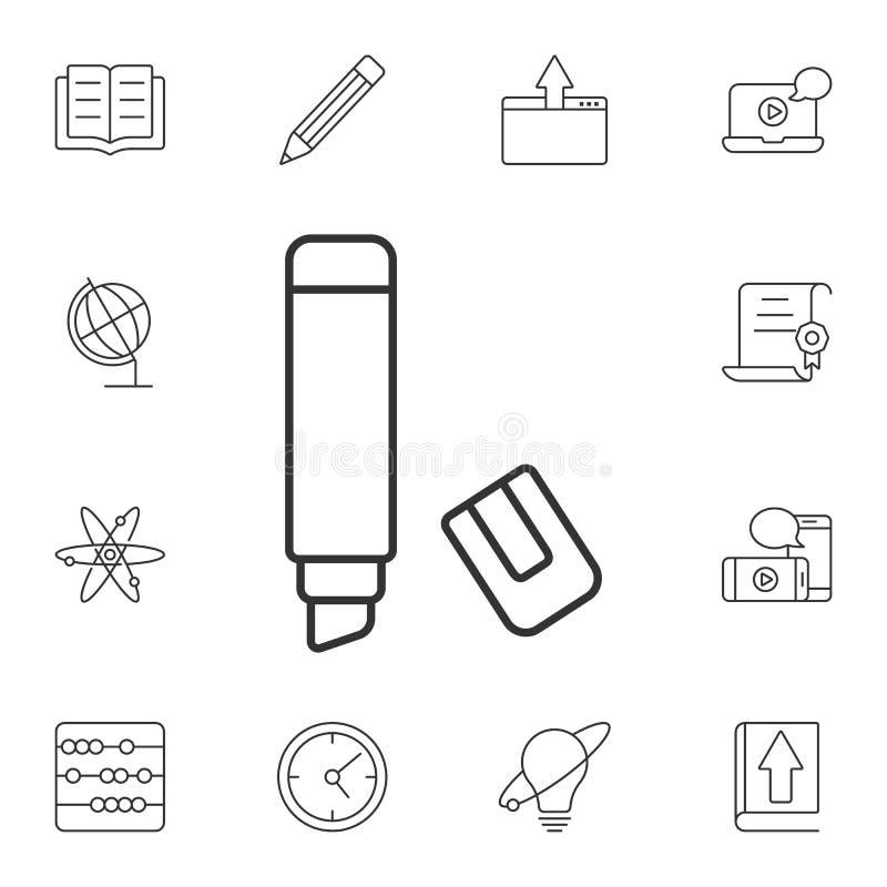 Το εικονίδιο δεικτών Απλή απεικόνιση στοιχείων Το σχέδιο συμβόλων δεικτών από το σύνολο συλλογής οικολογίας Μπορέστε να χρησιμοπο απεικόνιση αποθεμάτων