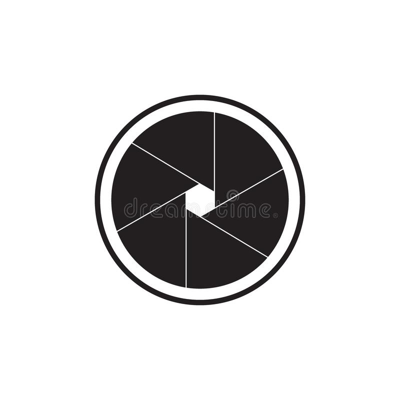 Το εικονίδιο διαφραγμάτων Σύμβολο ανοιγμάτων ελεύθερη απεικόνιση δικαιώματος