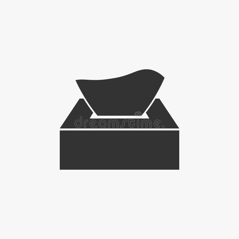 Το εικονίδιο κιβωτίων εγγράφου ιστού, ιστός, καθαρίζει απεικόνιση αποθεμάτων