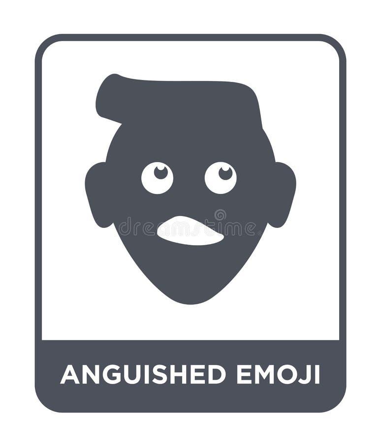 το εικονίδιο emoji στο καθιερώνον τη μόδα ύφος σχεδίου το εικονίδιο emoji που απομονώθηκε στο άσπρο υπόβαθρο το διανυσματικό εικο απεικόνιση αποθεμάτων