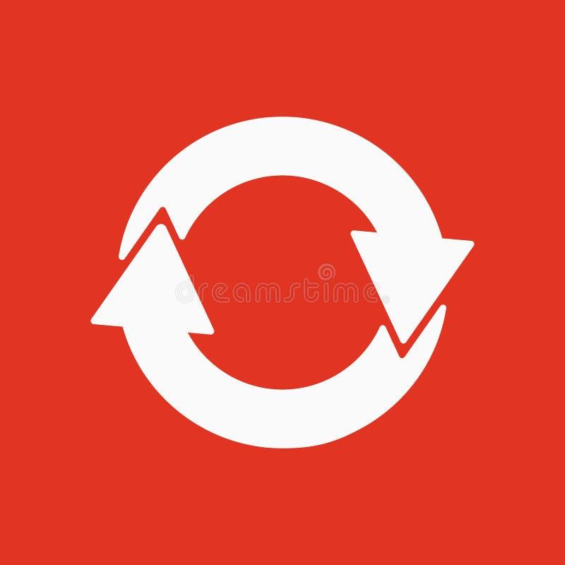 Το εικονίδιο ανακύκλωσης Eco και οικολογικός, σύμβολο κύκλων επίπεδος ελεύθερη απεικόνιση δικαιώματος