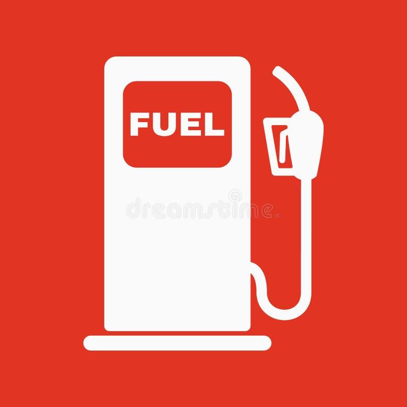 Το εικονίδιο βενζινάδικων Σύμβολο καυσίμων βενζίνης και diesel επίπεδος απεικόνιση αποθεμάτων