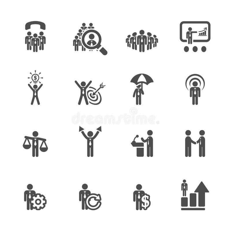 Το εικονίδιο επιχειρήσεων και διαχείρισης έθεσε 6, διανυσματικό eps10 ελεύθερη απεικόνιση δικαιώματος