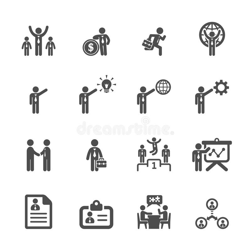 Το εικονίδιο επιχειρήσεων και διαχείρισης έθεσε 5, διανυσματικό eps10 απεικόνιση αποθεμάτων
