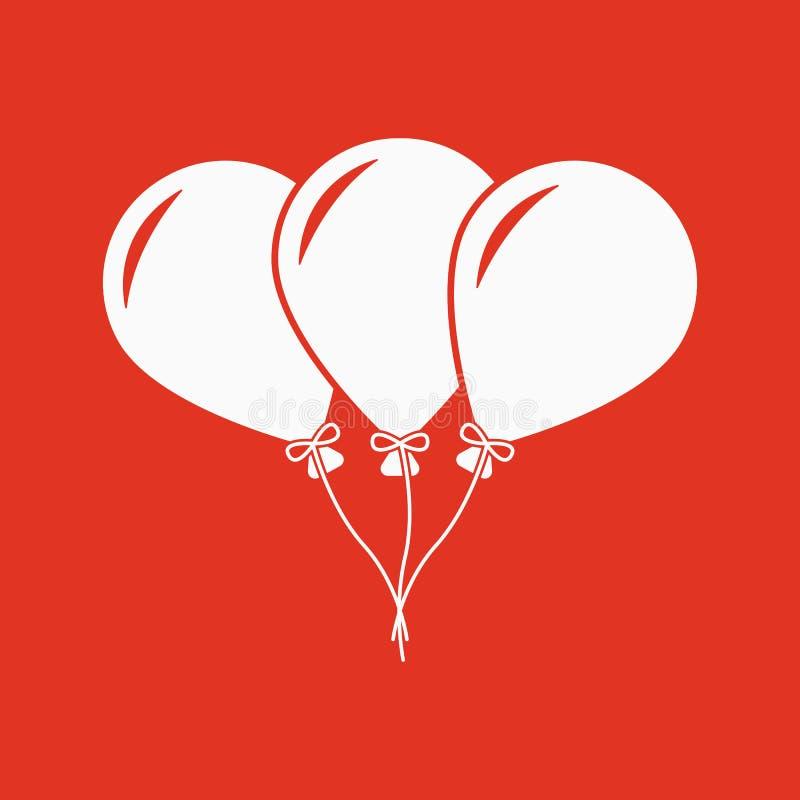 Το εικονίδιο μπαλονιών Διασκέδαση και εορτασμός, σύμβολο γενεθλίων επίπεδος ελεύθερη απεικόνιση δικαιώματος