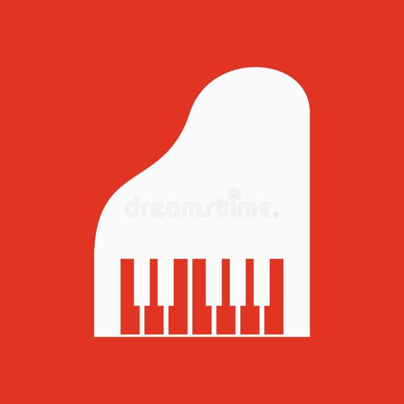 Το εικονίδιο πιάνων Μουσική και pianist, μουσικός, σύμβολο συνθετών επίπεδος διανυσματική απεικόνιση