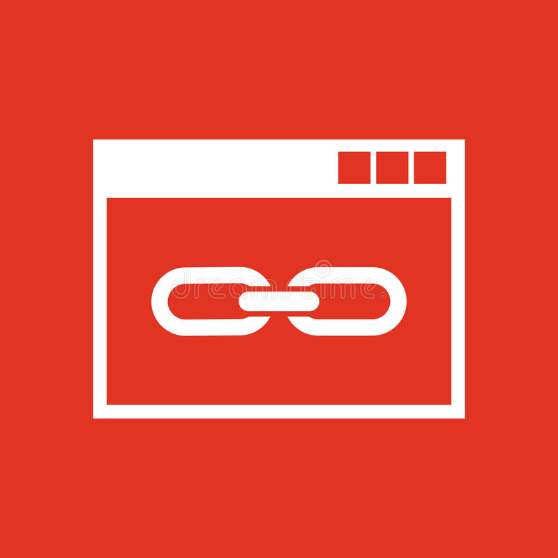 Το εικονίδιο συνδέσεων ιστοχώρου ιστοχώρος, WWW και μηχανή αναζήτησης, ανάπτυξη, σύμβολο seo Ui Ιστός ΛΟΓΟΤΥΠΟ Σημάδι Επίπεδο σχέ διανυσματική απεικόνιση