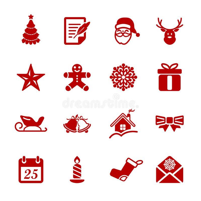 Το εικονίδιο Χριστουγέννων έθεσε 2, διανυσματικό eps10 διανυσματική απεικόνιση