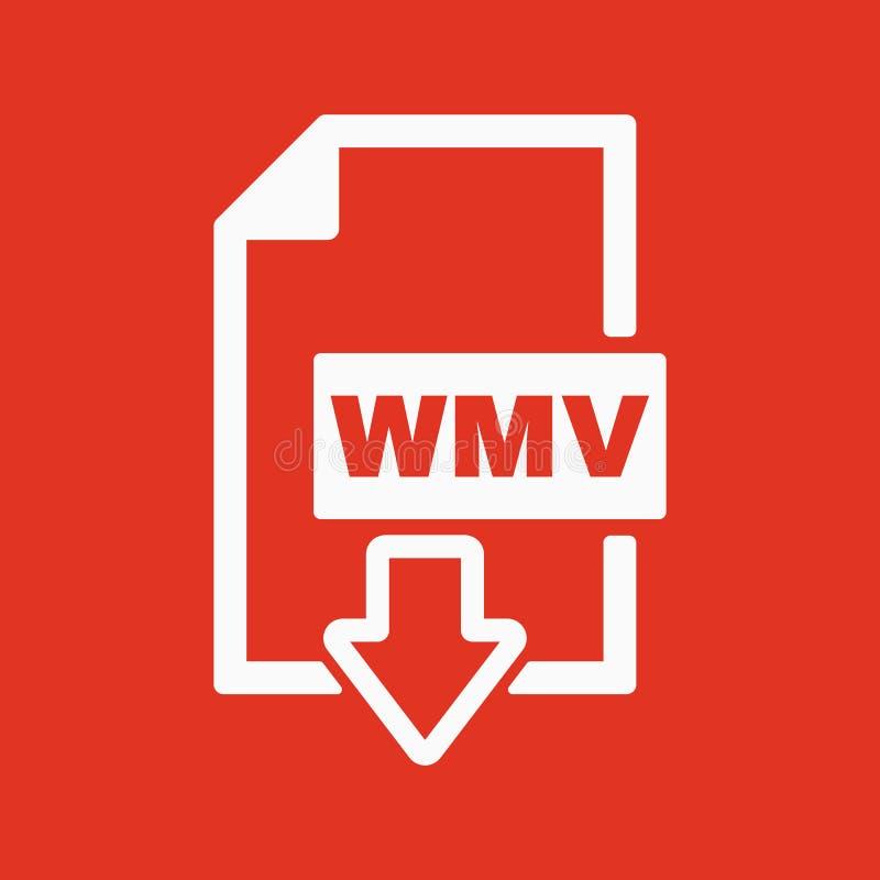 Το εικονίδιο WMV Τηλεοπτικό σύμβολο μορφής αρχείου επίπεδος ελεύθερη απεικόνιση δικαιώματος
