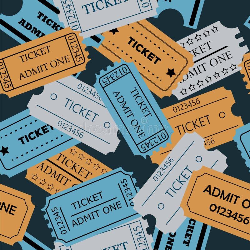Το εισιτήριο αναγνωρίζει ένα άνευ ραφής σχέδιο διανυσματική απεικόνιση
