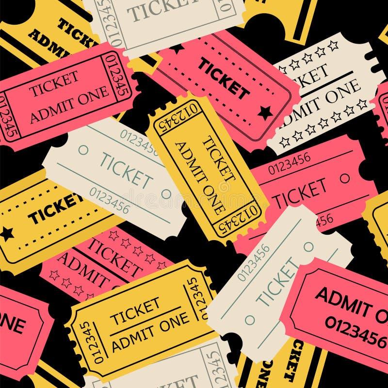 Το εισιτήριο αναγνωρίζει ένα άνευ ραφής σχέδιο απεικόνιση αποθεμάτων