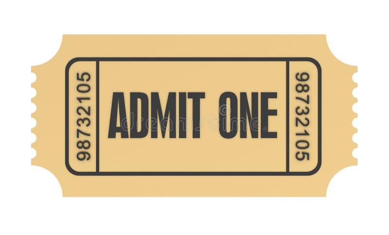 Το εισιτήριο αναγνωρίζει μια τρισδιάστατη απεικόνιση έννοιας απεικόνιση αποθεμάτων